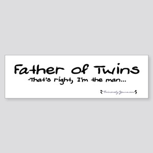 Father of Twins - The Man - Bumper Sticker