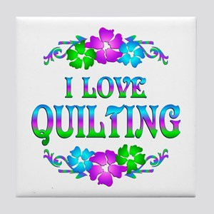 Quilting Love Tile Coaster