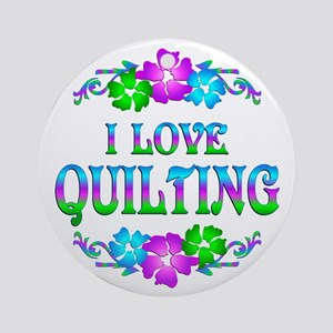 Quilting Love Ornament (Round)