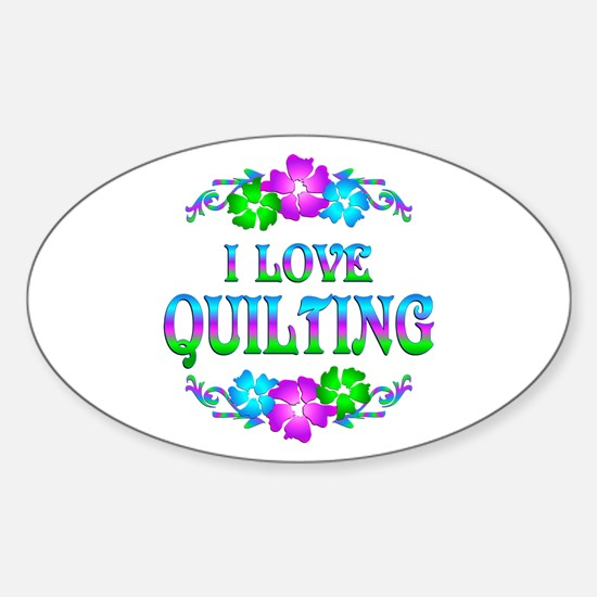 Quilting Love Sticker (Oval)