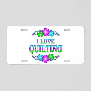 Quilting Love Aluminum License Plate