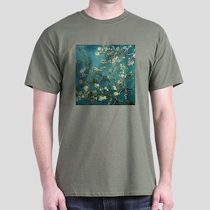 Van Gogh Almond Branches In Bloom Dark T-Shirt