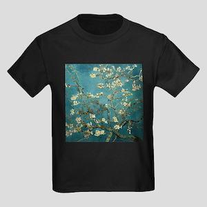 Van Gogh Almond Branches In Bloom Kids Dark T-Shir