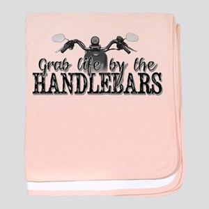 Grab Life By The Handlebars baby blanket