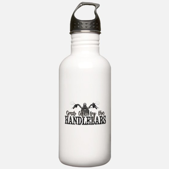 Grab Life By The Handlebars Water Bottle