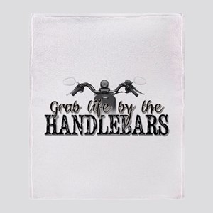 Grab Life By The Handlebars Throw Blanket