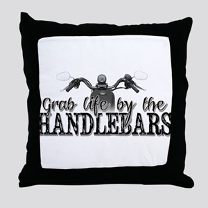 Grab Life By The Handlebars Throw Pillow