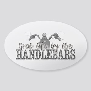 Grab Life By The Handlebars Sticker (Oval)