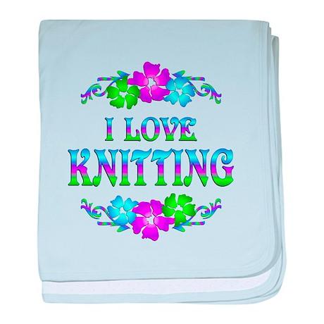 Knitting Love baby blanket