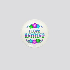 Knitting Love Mini Button