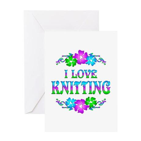 Knitting Love Greeting Card