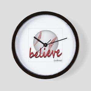 Believe (baseball) Wall Clock
