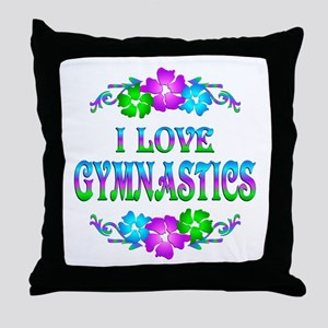 Gymnastics Love Throw Pillow