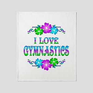 Gymnastics Love Throw Blanket