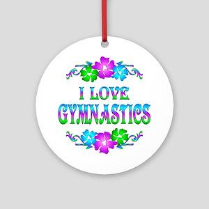 Gymnastics Love Ornament (Round)