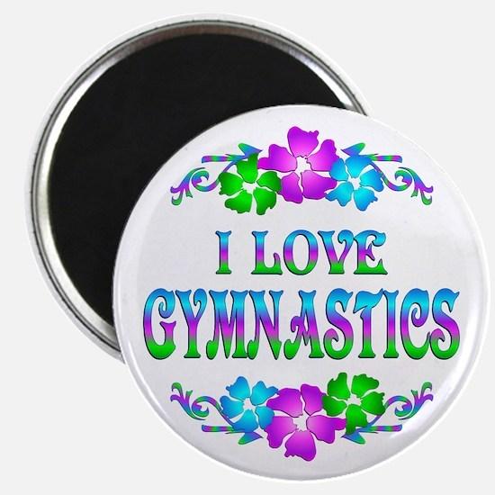"""Gymnastics Love 2.25"""" Magnet (100 pack)"""