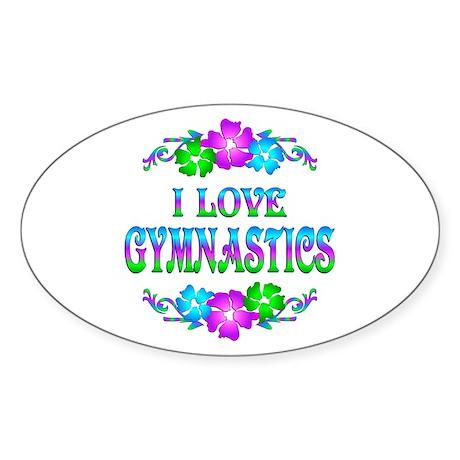 Gymnastics Love Sticker (Oval)