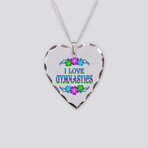 Gymnastics Love Necklace Heart Charm