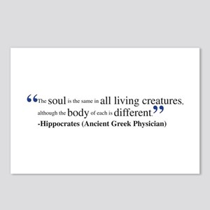 Hippocrates quote Postcards (Package of 8)