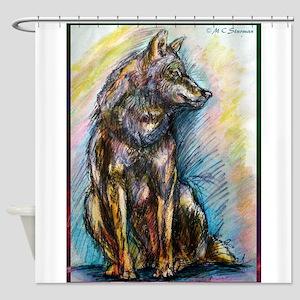 Wolf, wildlife art, Shower Curtain