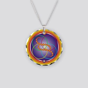 Crop Circle Necklace Circle Charm
