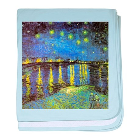 Van Gogh Starry Night Over The Rhone baby blanket