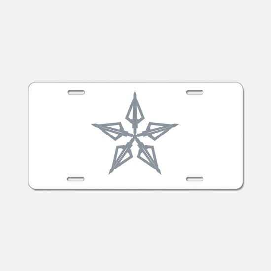 Shooting Star Aluminum License Plate
