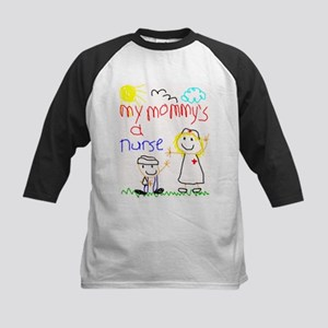 Mommy's a Nurse Kids Baseball Jersey