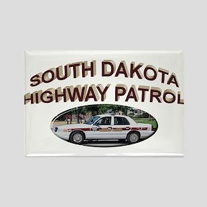 South Dakota Highway Patrol Rectangle Magnet