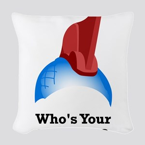 Yondu Who's Your Daddy Woven Throw Pillow