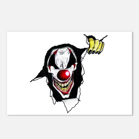 Psycho Clown Postcards (Package of 8)