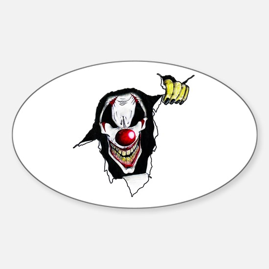 Psycho Clown Sticker (Oval)