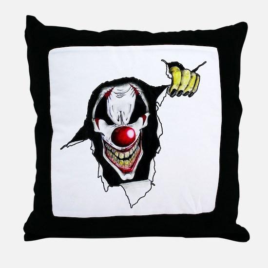 Psycho Clown Throw Pillow