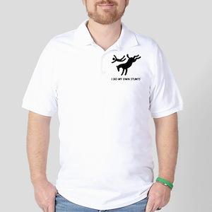 Funny bucking horse stunts Golf Shirt