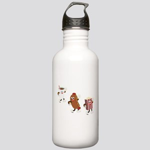 Soda Hotdog Popcorn Stainless Water Bottle 1.0L