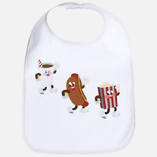 Soda Hotdog Popcorn Bib