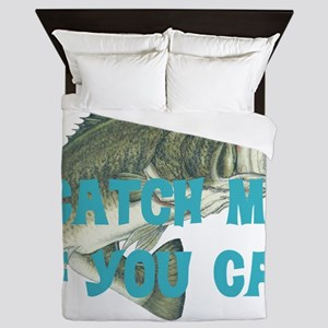 Catch me bass Queen Duvet