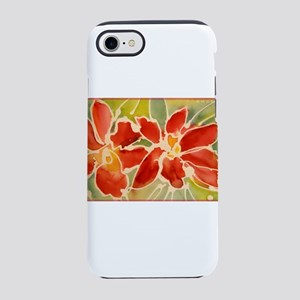 Red orchids! Beautiful art! iPhone 7 Tough Case