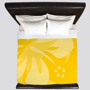 Hibiscus Yellow King Duvet