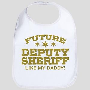 Future Deputy Sheriff Like My Dadd Cotton Baby Bib