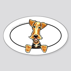 Airedale Welsh Terrier Peeking Bumper Sticker