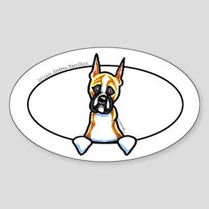 Cropped Ear Boxer Peeking Bumper Sticker