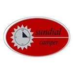 Big Sundial Logo Oval Sticker
