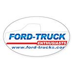 Ford-Trucks Sticker (Oval)