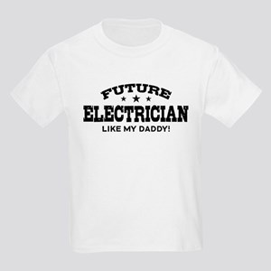 Future Electrician Kids Light T-Shirt
