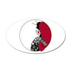 Geisha 22x14 Oval Wall Peel
