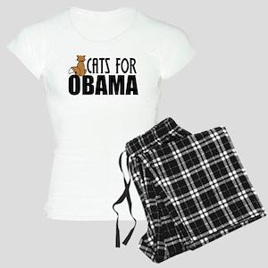 Cats for Obama Women's Light Pajamas