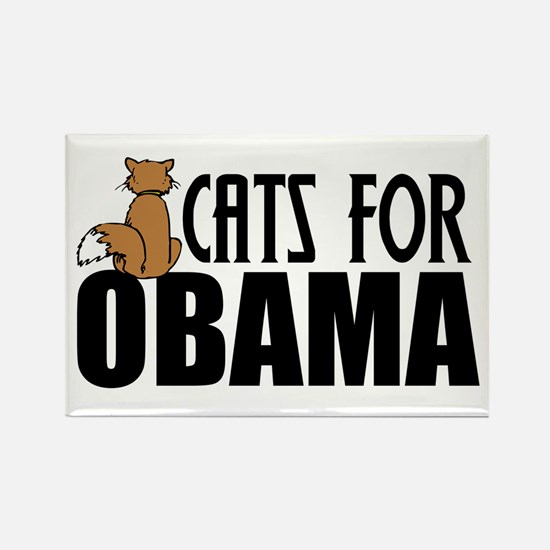 Cats for Obama Rectangle Magnet