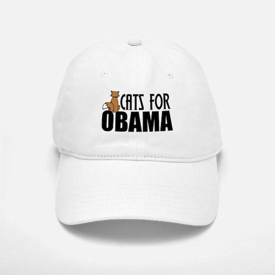 Cats for Obama Baseball Baseball Cap