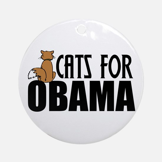 Cats for Obama Ornament (Round)